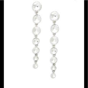 Kenneth Jay Lane Pave Linear Drop Earrings